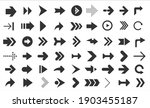 arrows web collection on white. ... | Shutterstock .eps vector #1903455187