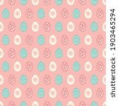 easter seamless pattern with... | Shutterstock .eps vector #1903465294