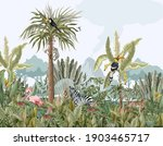 pattern with jungle animals ... | Shutterstock .eps vector #1903465717