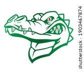 green nuanced  crocodile head...   Shutterstock .eps vector #1903467874