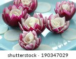 Flowers Made Of Red Onion
