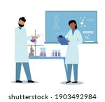 science researching lab....   Shutterstock .eps vector #1903492984