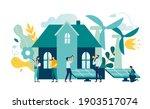 green energy environmentally... | Shutterstock .eps vector #1903517074