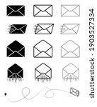 big set of closed envelope ... | Shutterstock .eps vector #1903527334