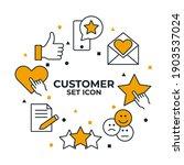 Customer Testimonials Set Icon. ...