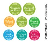 organic  natural product logo... | Shutterstock .eps vector #1903537807