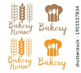 bakery logo and bakehouse logo. ... | Shutterstock .eps vector #1903537834