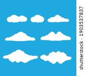 vector cartoon clouds. set of... | Shutterstock .eps vector #1903537837