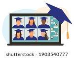 virtual graduation ceremony....   Shutterstock .eps vector #1903540777