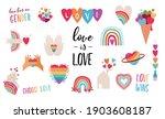 lgbt elements for valentines... | Shutterstock .eps vector #1903608187