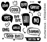 hand drawn speech bubbles with...   Shutterstock .eps vector #1903645444