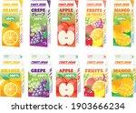various fruit juice pack of...   Shutterstock .eps vector #1903666234