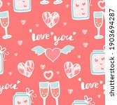 seamless pattern with hearts... | Shutterstock .eps vector #1903694287