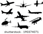 a collection of a variety of... | Shutterstock .eps vector #190374071