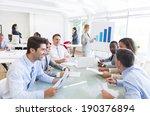 group of multi ethnic corporate ... | Shutterstock . vector #190376894