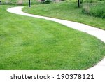 Curvy Cycling And Running Path...