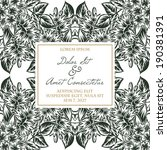 wedding invitation cards with... | Shutterstock .eps vector #190381391
