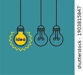 idea flat vector icon.... | Shutterstock .eps vector #1903815847