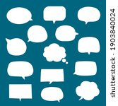 set of blank empty white speech ...   Shutterstock .eps vector #1903840024