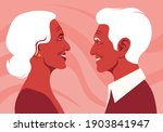 the old lovers in the profile....   Shutterstock .eps vector #1903841947