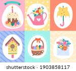 vector set of colorful spring... | Shutterstock .eps vector #1903858117
