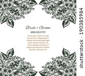 wedding invitation cards with... | Shutterstock .eps vector #190385984
