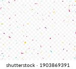 colorful confetti celebrations... | Shutterstock . vector #1903869391