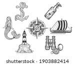 sea ocean symbols items set... | Shutterstock .eps vector #1903882414