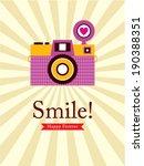 smile camera poster | Shutterstock .eps vector #190388351