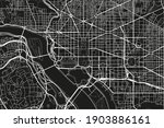 black and white vector city map ... | Shutterstock .eps vector #1903886161