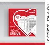 valentine's day sale posts... | Shutterstock .eps vector #1903905421