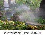 Jungle Style Garden With Stream ...