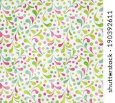 seamless pattern with abstract... | Shutterstock .eps vector #190392611