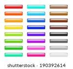 set of colorful 3d plastic web... | Shutterstock .eps vector #190392614