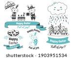 easter vector illustration for... | Shutterstock .eps vector #1903951534