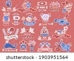 valentine illustration vector... | Shutterstock .eps vector #1903951564