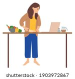 woman is standing and preparing ... | Shutterstock .eps vector #1903972867