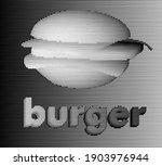 vector image of burger on... | Shutterstock .eps vector #1903976944