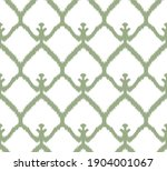 ethnic green ikat chevron...   Shutterstock . vector #1904001067