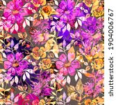 watercolor seamless pattern... | Shutterstock . vector #1904006767