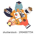 business team meeting at round... | Shutterstock .eps vector #1904007754