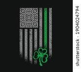 american celtic flag st patrick ... | Shutterstock .eps vector #1904024794