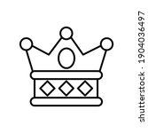 crown for royal party line icon   Shutterstock .eps vector #1904036497