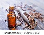 oil of cloves in a glass bottle | Shutterstock . vector #190413119