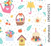 vector seamless pattern with... | Shutterstock .eps vector #1904142271