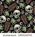 seamless pattern of grave... | Shutterstock .eps vector #1904143741