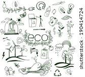 hand drawn design elements  ... | Shutterstock . vector #190414724