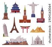 travel time with city landmark...   Shutterstock .eps vector #1904163064