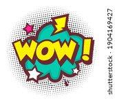 comic speech bubbles with text... | Shutterstock .eps vector #1904169427