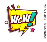 comic speech bubbles with text... | Shutterstock .eps vector #1904172757